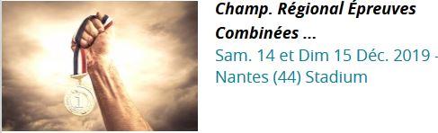 Championnats régionaux d'Epreuves Combinées en salle NANTES 14/12/2019