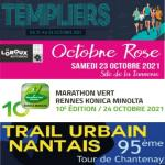 LES TEMPLIERS MILLAU --- OCTOBRE ROSE --- MARATHON RENNES --- TRAIL URBAIN NANTAIS